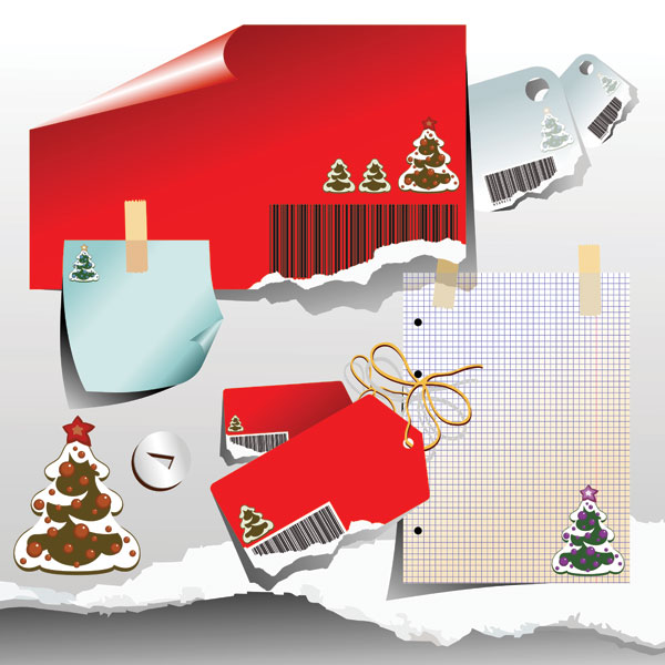 Рождественские бумаги вектор