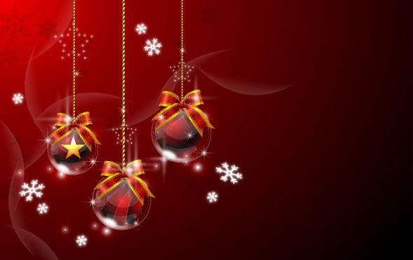 Bola de Navidad colgantes de material de vectores