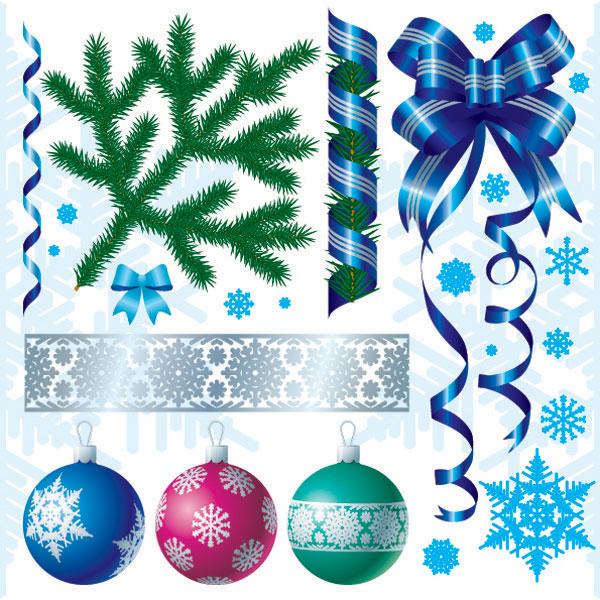 クリスマスの装飾のベクター素材
