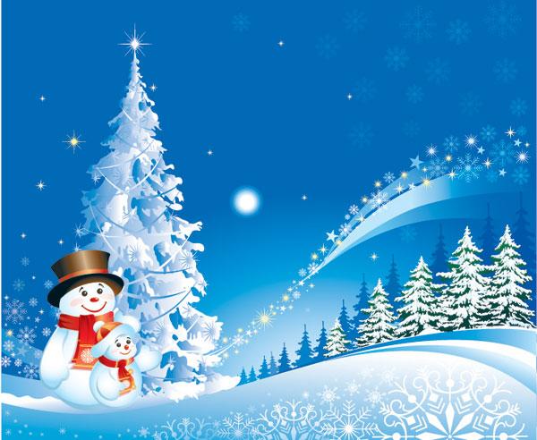 Navidad muñeco de nieve nieve Vector de material