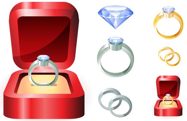 Vector de anillo de bodas