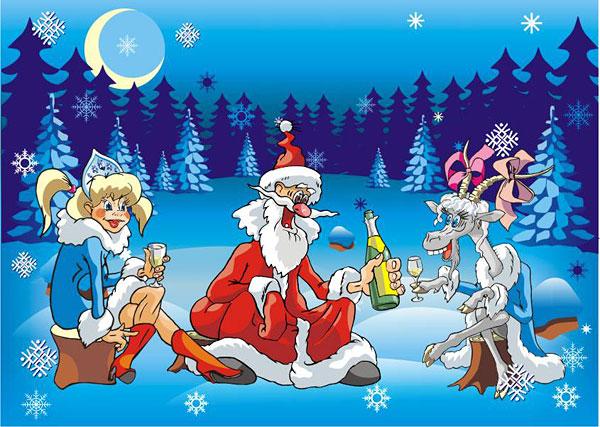 Vector de Santa Claus loco