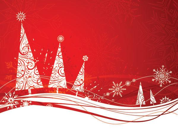 Простой вектор снежинка Рождественская елка