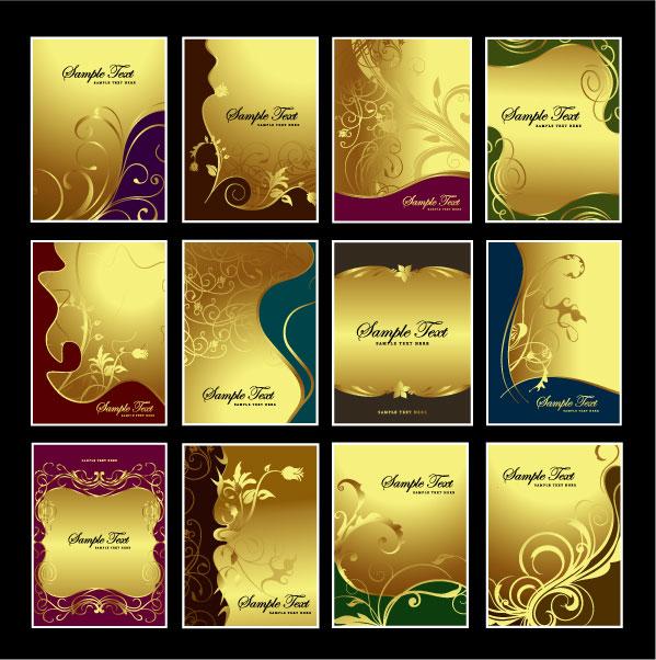 黄金パターン ベクトル材料のテーマ
