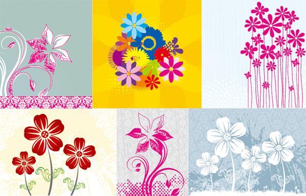 Flores pintados à mão Vector