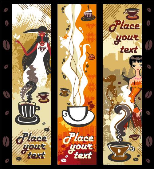 Женщины и кофе вектор