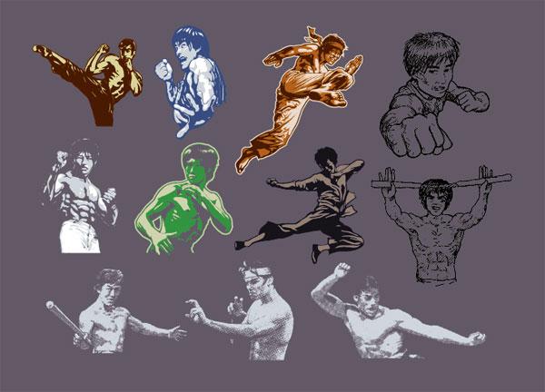 Vecteur de série pour le peuple Kung Fu