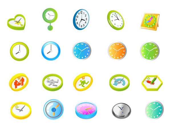 Material de vetor de relógio