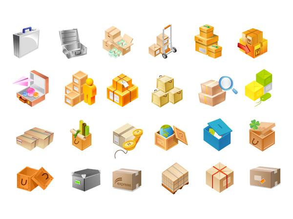 종이 팩, 도구 상자, 글로브, 나무 상자