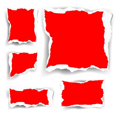 สีแดง shredding เวกเตอร์