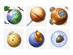 Icône du système solaire PNG