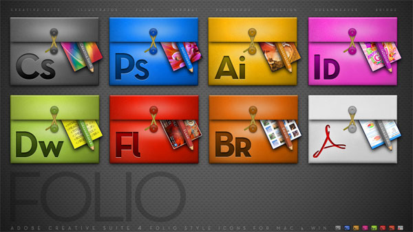 การออกแบบชุดซอฟต์แวร์โปรแกรม adobe โฟลเดอร์ไอคอน png