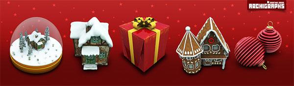 Haus, Geschenke, Crystal Ball, Kugel hängen