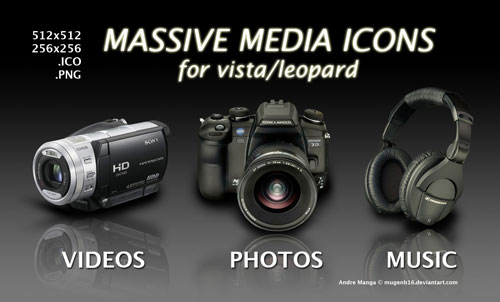 DV, cámara, auriculares, SONY KONICA iconos