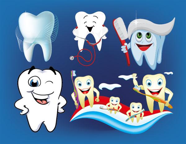 Palabras clave de dibujos animados dientes cepillo dentífrico ...