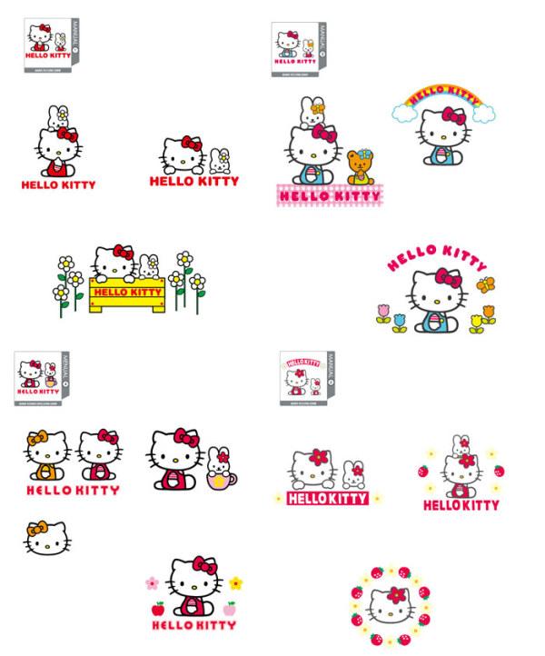 hallo Kitty offizielle vector 1-4
