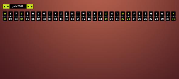 JS calendario dinámico