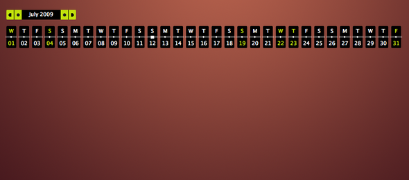 dynamische JS Kalender