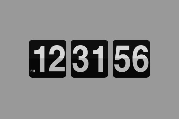 JS aplicación Flip-Down Clock efectos