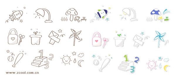 La serie icon lindo vector material-6