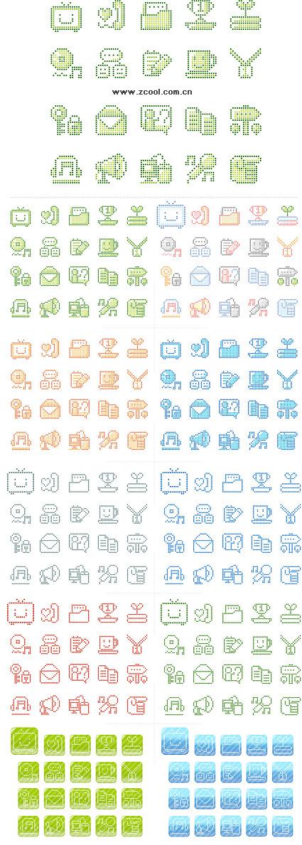 Gráficos de vetor pixel simples material-2