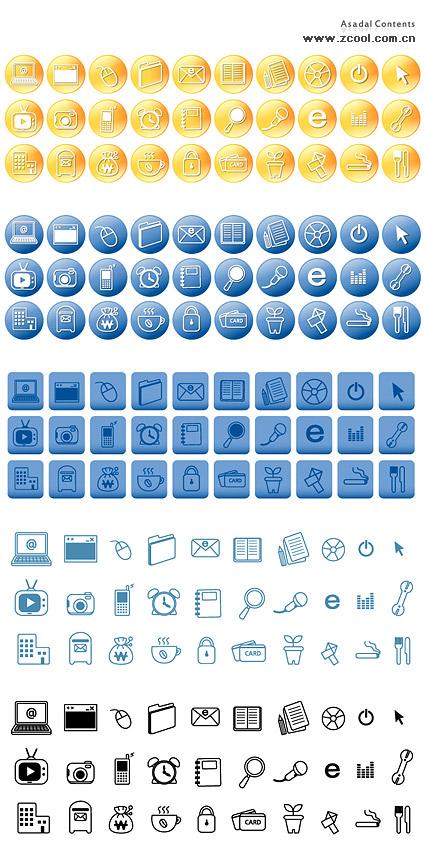 Material de vetor de linhas simples do ícone do tema