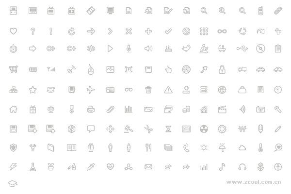Líneas simples de una serie de práctica pequeño icono material de vectores