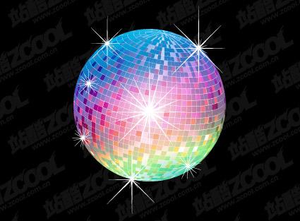Огни диско шар векторного материала