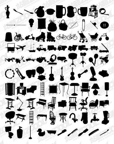 1000 एल्बम विभिन्न silhouette वेक्टर सामग्री-7