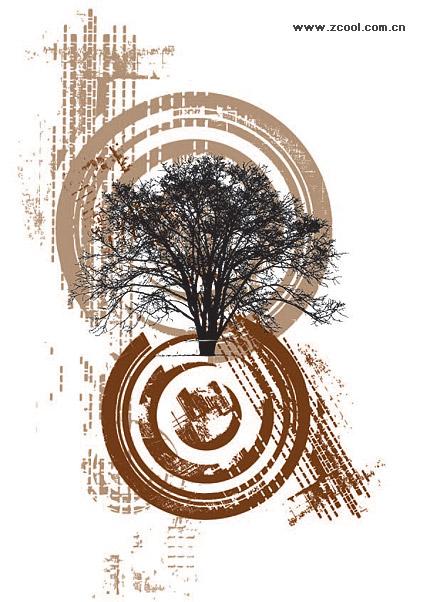 Векторные иллюстрации дерево тема материала