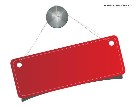 Обратите внимание, красный вектор тег, лицензирование материалов