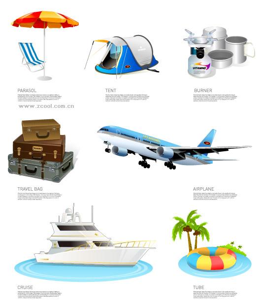 Turismo viajes icono material de vectores
