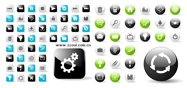 conception de sites web web2.0 tour avec un matériau de vecteur icône icône carrée