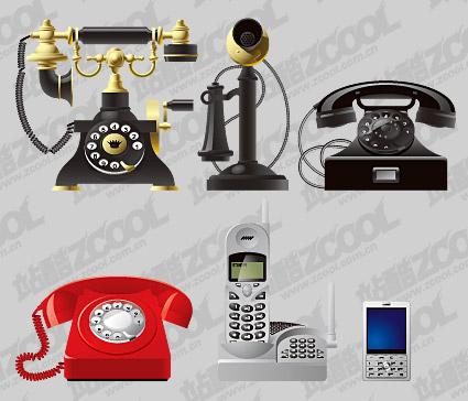 Старый и новый телефон векторного материала