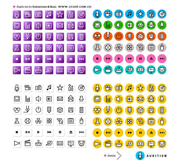 간단한 라인 아이콘 벡터 그래픽 소재