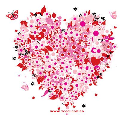 Fleurs colorées sur Valentine