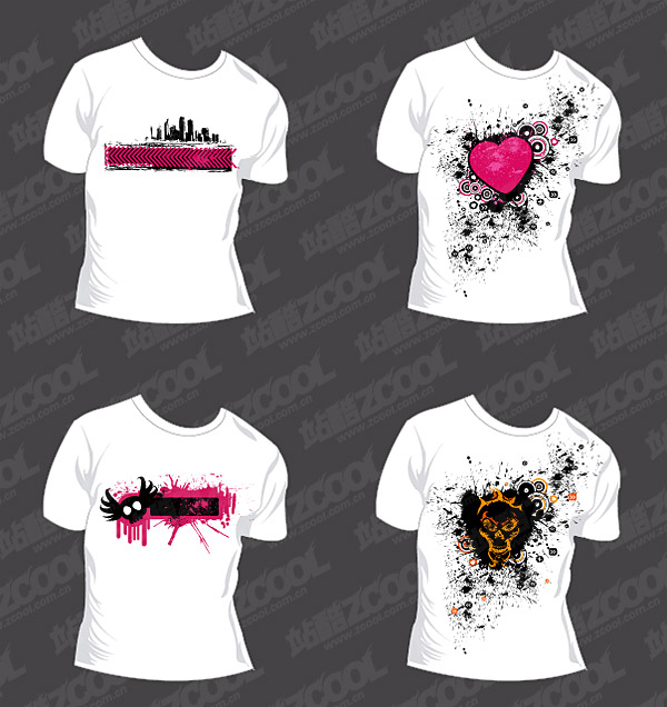 Trend of T-shirt template vector material