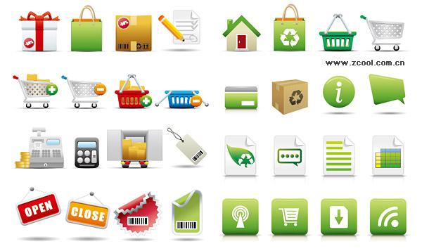 exquisita compras categoría icono material de vectores
