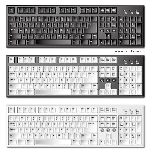 Material de vetor de teclado requintado