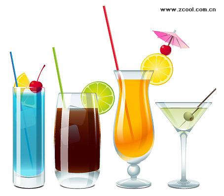 素材のコップ飲み物をベクトルします。