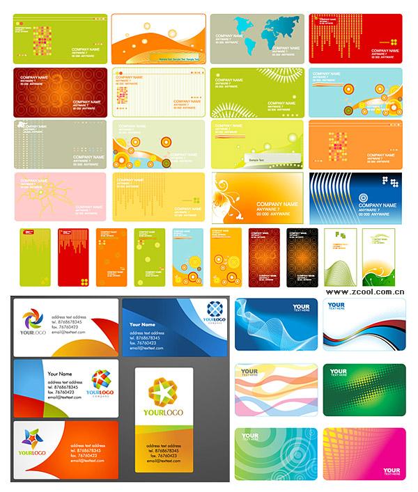 Разнообразие коммерческих карт векторного материала