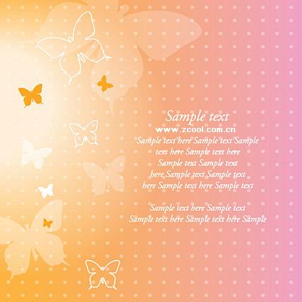 夢の蝶ベクトルの背景素材
