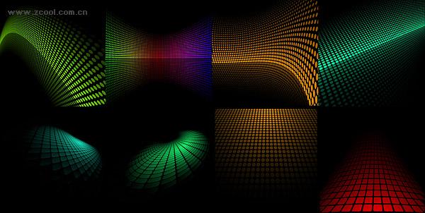 ベクトル空間の背景素材