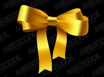 Gold Ribbon Bow-Vektor-material