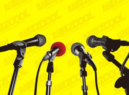 material de vector de micrófono