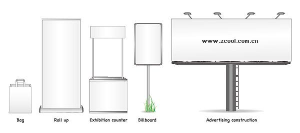 ベクトル材料空白看板
