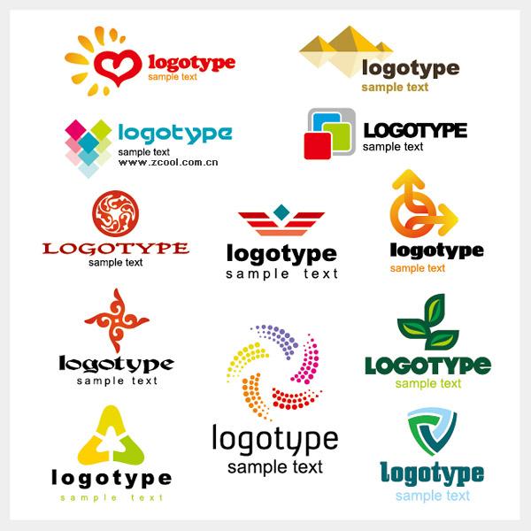 美しいグラフィック ロゴをベクター素材テンプレート