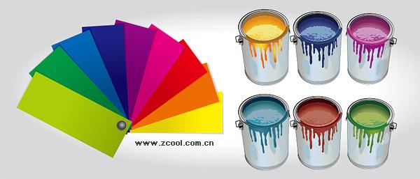Вектор краски и цвет картона материал