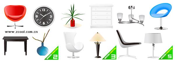Decoraciones casa vector de material