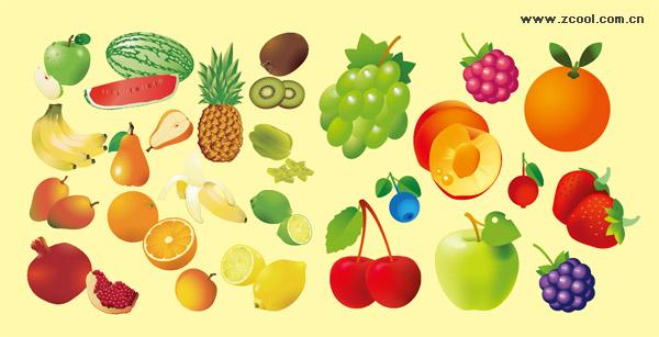 さまざまな果物のベクター素材